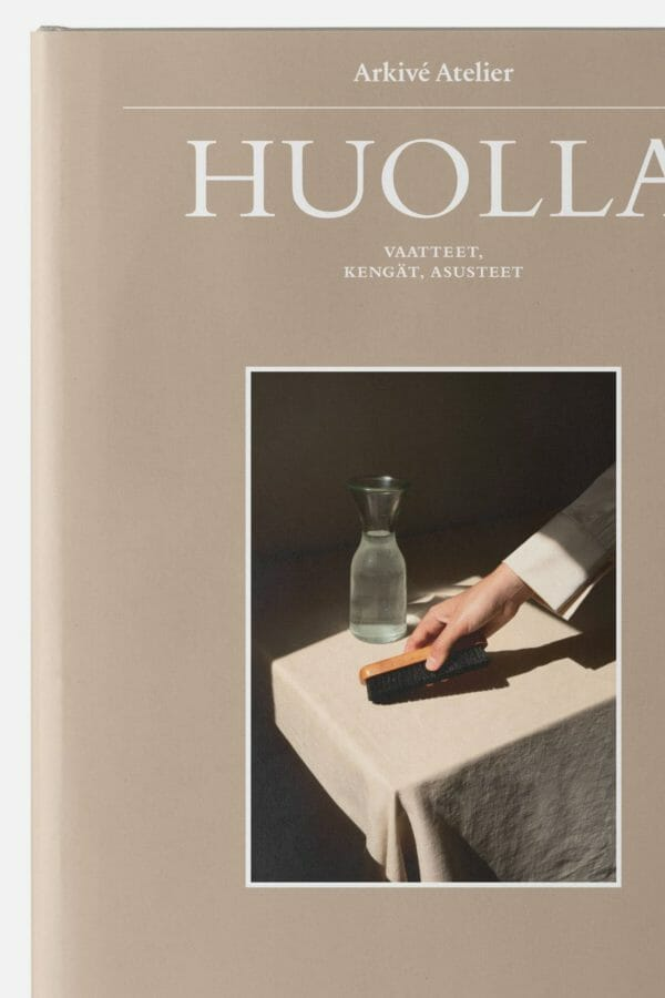 HUOLLA clothing care book by arkive atelier. sold in finland by RESTYLE